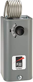Johnson Controls A19BAF-1C Penn Series A19 Coiled Bulb Space Thermostat, Ventilating, Heating, SPDT Switch Action, -1 to 43°C Range, 0.9°C Differential, 1-3/8