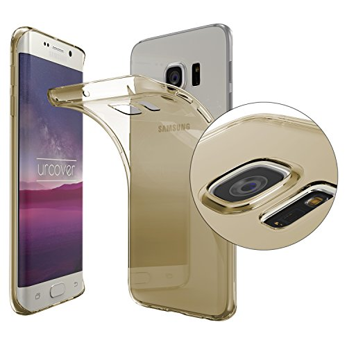 Urcover® Kameraschutz Schutz-Hülle kompatibel mit Samsung Galaxy S6 Edge   TPU/Silikon Handyhülle Champagner Gold Transparent   Flexibel Ultra Slim Dünn   Soft Crystal Cover Schale