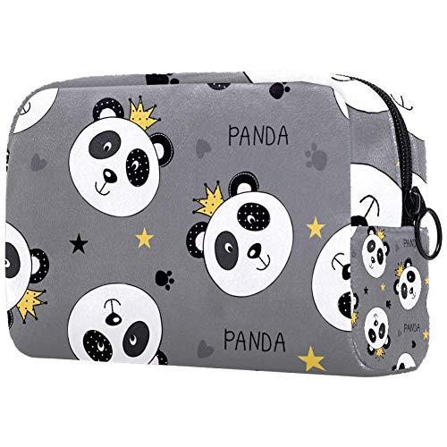 Tikismile Grande trousse de maquillage Motif panda princesse