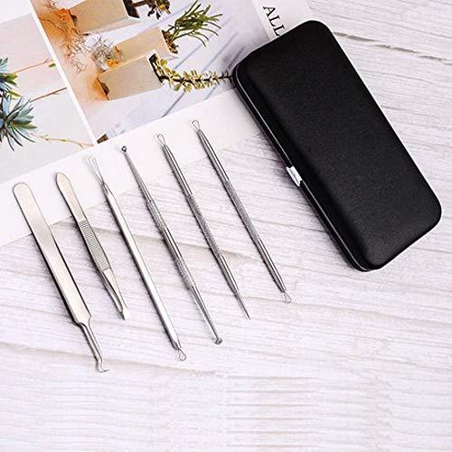 Sxuefang Acier Inoxydable Aiguille acné 6 pièces Set acné Points Noirs acné Aiguille beauté Outil