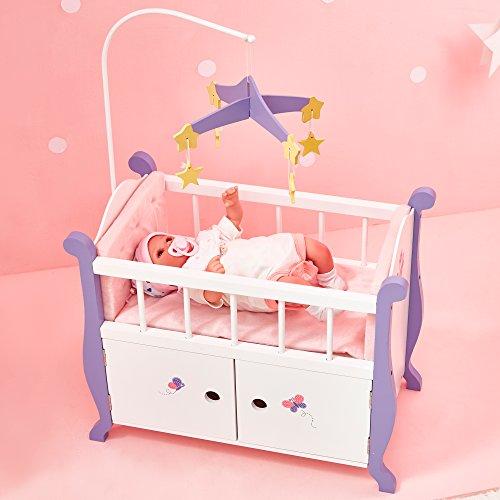 Culla Contenitore Gioco Legno per Bambole bebč da 45 cm Olivias World TD-0206A