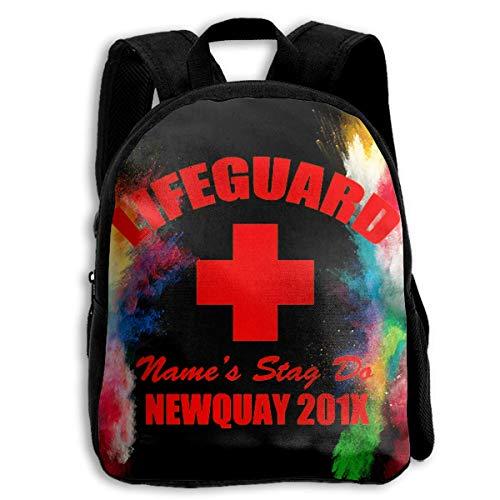Backpacks,Rettungsschwimmer Logo Kinder Schulterrucksack, Modische Kinder Schultertaschen Für Jungen Mädchen Reisen,27cm(W) x34cm(H)