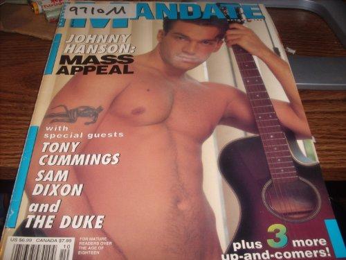 Mandate Adult Men's Gay Magazine October 1997 Johnny Hanson