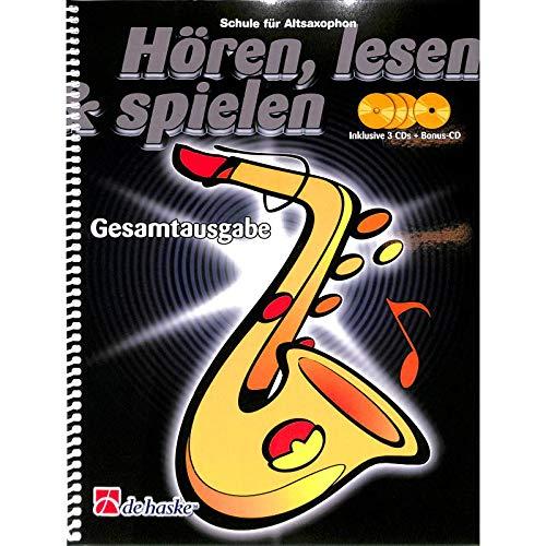 Hören, lesen and spielen, Schule für Altsaxophon, Gesamtausgabe - Bläserschule (Einzel- oder Gruppenunterricht) und Notenkl.