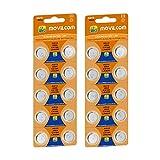 MovilCom® - 20 Pilas Boton AG12 Pilas Reloj 1.5V conocida como 386, 386, SR43W, V386, 386, D386, S1142E, 260, H, 280-41, SB-S8, SR43, AG12
