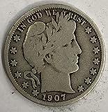 1907 O Silver Barber Half Dollar 50c - Fine (F)