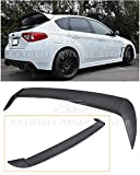 Extreme Online Store Repalcement for 2008-2014 Subaru WRX & STi Hatchback Wagon Models ABS Plastic Primer Black Rear Roof Add-On Extension Wing Spoiler Gurney Flap