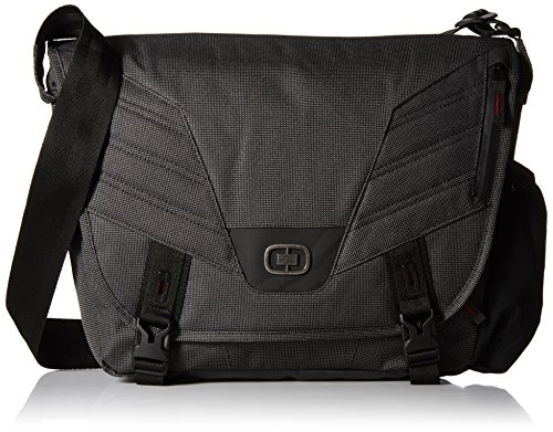 OGIO Renegade Laptop/Tablet Messenger Bag - Black Pindot