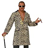 Hustler Leoparden Jacke Mantel Pimp Herren-Kostüm Lude Zuhälter Stenz Gauner Assi Proll Disco...