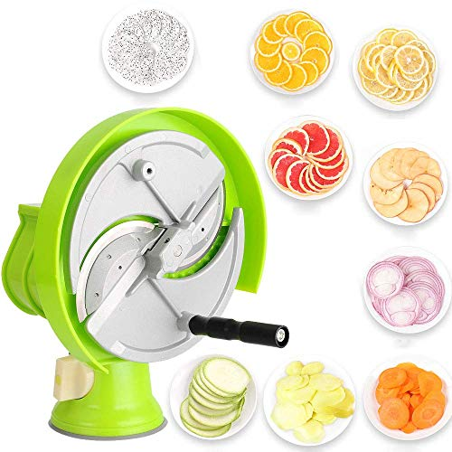 L.SMX Obst- Und Gemüseschneider Manueller Mandolinenschneider Schneidemaschine Einstellbare Dicke Für Orange, Zitrone, Kartoffel, Gewerbliches Haushaltsküchenwerkzeug