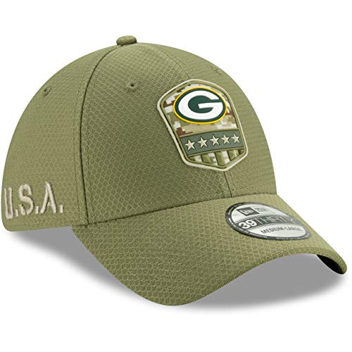 New Era 39Thirty Cap Salute to Service Green Bay Packers S/M