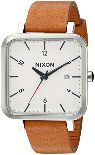 Nixon Men's 'Ragnar 36' Quartz Stainless Steel and Leather Watch, Color:Brown (Model: A9852312)