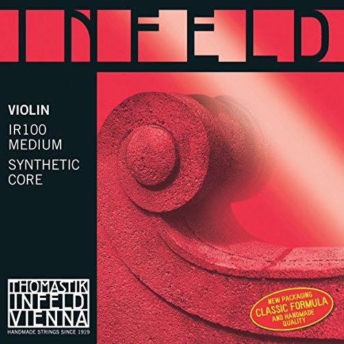 Thomastik 633859 Saiten für Violine Infeld Hybridkern, Satz rot 4/4 Medium