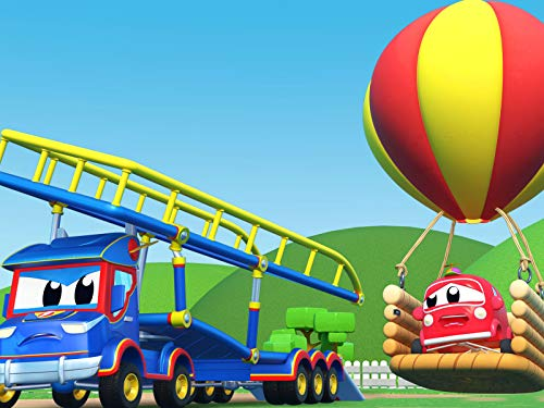 Ballon-Fest Transporter / Sprung Truck rettet das Kind / Die Reifen des Monster Truck! / Verfolgungsjagd Polizeiauto und Krokodil