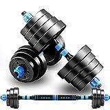 FWQAZ Kit Haltères Musculation, Poids Ajustable avec Barre d'Extension supplémentaire, 10KG/15KG/20 KG/30KG/40KG, Musculation