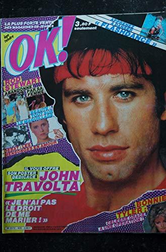 OK ! âge tendre 405 OCTOBRE 1983 COVER JOHN TRAVOLTA + POSTER ROD STEWART BONNIE TYLER