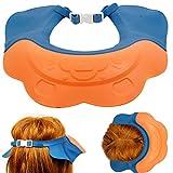Shampoo Schutz für Kinder, mit Schnallen-Verschluss, an jede Kopfgröße anpassbar, Haare waschen ohne Tränen, 100% wasserdicht, weiche Silikonhaut, Augenschutz & Ohrenschutz, Haarwaschhilfe, Duschkappe