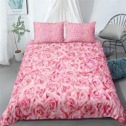 Bedclothes-Blanket Juego de sabanas Infantiles Cama 90,Rosa 3D-6_210 × 245cm
