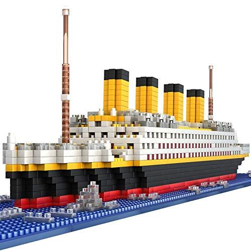 Bloques de construcción 1860 Uds Titanic Crucero Modelo Barco Diy Diamante El Océano Pacífico Amor Barco Bloques De Construcción Kit De Ladrillos Juguetes Para Niños