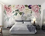 Papel Pintado Flores De Rosa Vintage Fotomural 3D Mural Pared Wallpaper