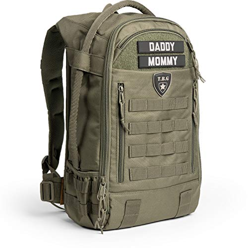 Tactical Baby Gear Daypack 3.0 Tactical Diaper Bag Backpack and Changing Mat (Ranger Green)