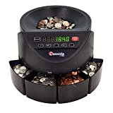 Cassida C100 Electronic Coin Sorter/Counter, Countable coins 1¢, 5¢,...