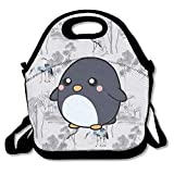 N / A Cute Penguin Lovely Outdoor Cooler Bag Lunch Tote Picnic Bag con cinturón de Cuerda con Estilo