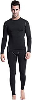 LANBAOSI Mens Thermal Underwear Set, Fleece Lined Long Johns Cold Weather Base Layer Top and Bottom