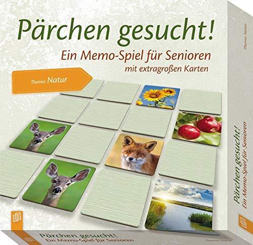 Pärchen gesucht! Thema: Natur: Ein Memo-Spiel für Senioren und Seniorinnen mit extragroßen Karten