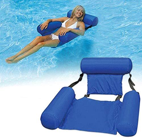 FANIER WOSNN Hamaca hinchable Lounge, piscina flotante Hammock Recliner Lounge hinchable Lounge de...