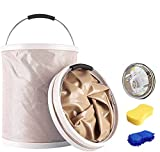 Gerguirry Upgrade 20L Portable Collapsible Bucket Folding Wash Basin Folding Bucket Water Storage for Washing Car,Camping Hiking Travelling Fishing X-Large Super Absorbent Sponge Included