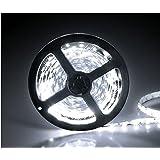 イドミせ LEDテープ 黒ベース 5m 600連SMD 正面発光 12V 防水 ホワイト