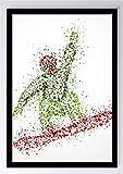Abstrakt Sport Snowboard Kunstdruck Poster -ungerahmt- Bild