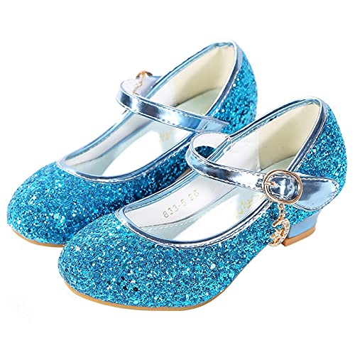 KANDEMY Niñas Princesa Zapatos Cenicienta Elsa Sandalias Disfraz de Princesa Niño Carnaval Halloween Navidad Cumpleaños Cosplay Fiesta Party Rosa Púrpura Plata Azul Oro 25-38