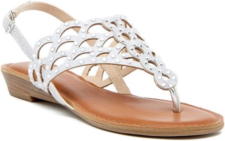 Ziginy Womens Mariane Fabric Split Toe Casual Slingback Sandals