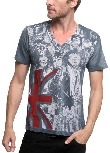 Rockstar Sushi - 'Angus V-Neck T-Shirt (Large) Grey