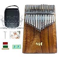 カリンバ 楽器 17キー 親指ビアノ 初心者向け 9点セット 上質 アカシア材 収納ケース 日本語マニュアル付き おもちゃ 贈り物