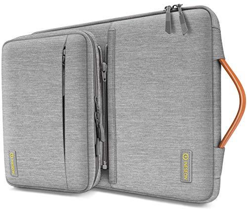 iNeseon 13-13,3 Zoll Laptop Hülle Tasche für MacBook Air/Pro 13, 13,3 Acer ASUS Dell HP Lenovo Huawei Laptop Ultrabook Notebooktasche Tragetasche mit Abnehmbarer Zubehörtasche, Grau