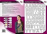 Color Bügeltransfers, DIN A4, ABC, Alphabet | Buchstaben auf Transfer-Folien für Textilien wie...