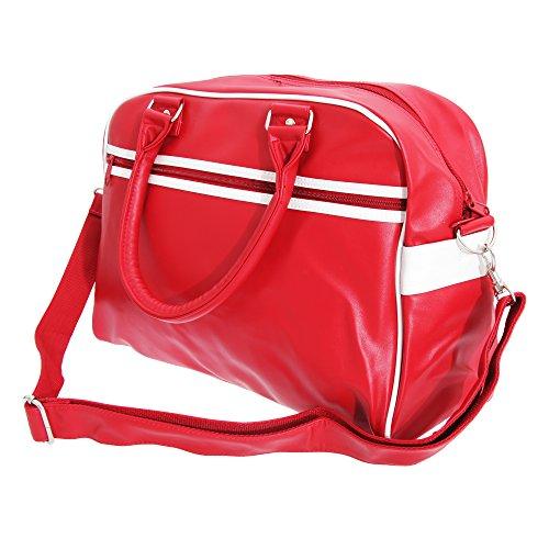 Bagbase Original Retro Bowlingtasche Gr. Einheitsgröße, schwarz / weiß