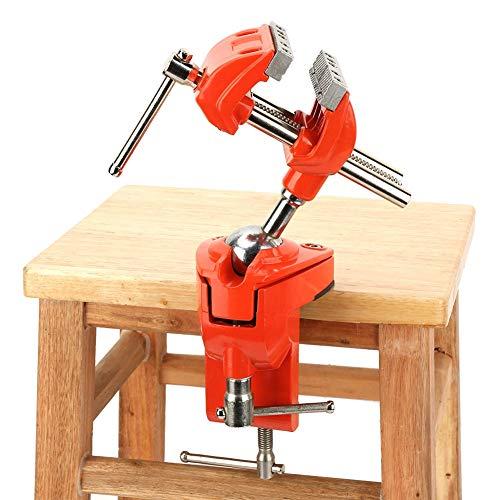 Mini mordaza de banco giratoria de aluminio, profesional mesa de banco mordaza madera herramienta de reparación artesanal para casa y fábrica