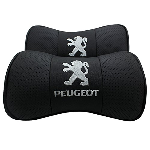 Fireman's Pair Genuine Leather Car Pillow Cushion,Car Cushion Neck Support Pillow for P.EUGEOT 508 308 RCZ 307 207 408 4008 5008 607 206 3008 407 608 Seat Headrest Cushion Neck Support Pillow