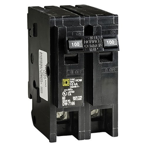 Square D by Schneider Electric HOM2100CP Homeline 100-Amp Two-Pole Circuit Breaker (Pack of 1)