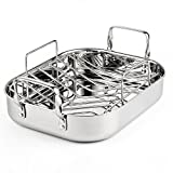Cooks Standard 14-Inch by 12-Inch Stainless Steel Roaster with Rack, Rectangular