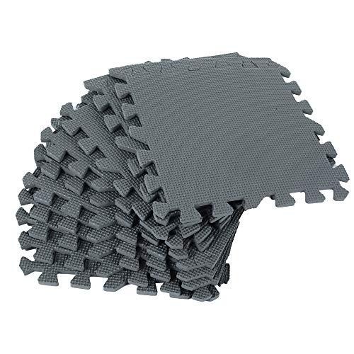 QTER 16 alfombrillas de ejercicio de espuma de rompecabezas, de espuma EVA, entrelazadas, almohadillas de goma antideslizante, para protección del suelo, esterilla de yoga de 30 x 30 cm