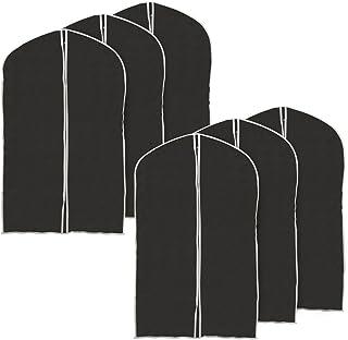 39 inch Garment Bag, Set of 6 EZOWare Black Foldable Breathable Garment Suit Shirt Dress Jacket Coat Dust Cover Travel Bag - Set of 6