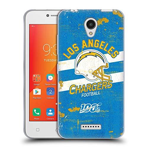 Head Case Designs Oficial NFL Casco Distressed Look 100th 2019/20 Los Angeles Chargers Carcasa de Gel de Silicona Compatible con Lenovo A Plus