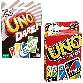 Mattel Games UNO Dare with UNO Card Game Bundle
