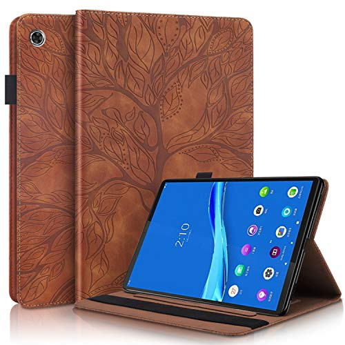 Tedtik Case for Lenovo M10 Plus 10.3' Smart Folio Cover with Stand Function Case for Lenovo Tab M10 FHD Plus TB-X606F 10.3-Brown