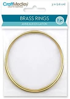 CraftMedley Brass Rings, 3in, Round, 2-Piece, 3